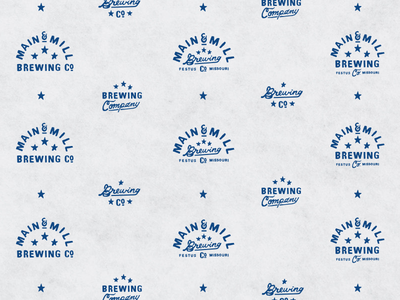MMBC Butcher Paper  burger menu main and mill brewing co. step and repeat pattern butcher paper main and mill main and mill brew mmbc