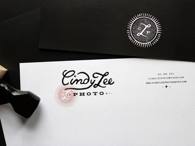 letterhead front n back handdrawn letterhead stamp icon branding photographer rubber stamp