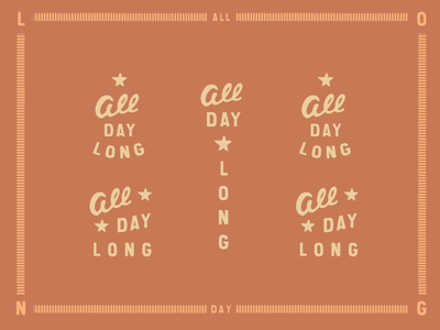 All Day Long  vintage illustrated type main and mill handdrawn script all day long