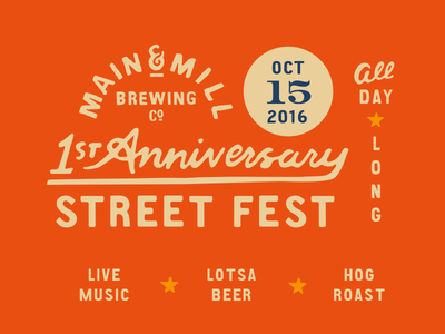 MMBC First Anniversary Street Fest oktoberfestus anniversary missouri festus festival graphics street fest main and mill brewing co. main and mill main and mill brew mmbc