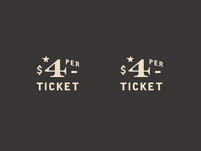 $4 PER type carnival $ 4 ticket