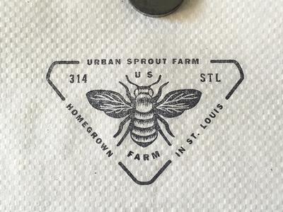 Stamp on gas station napkin