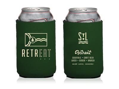 Retreat Gastropub / Koozie No. 02 beer can beer merchandise goods stl st. louis retreat gastropub retreat print design drink design coozie koozie