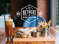 Postcard mailer / Retreat Gastropub