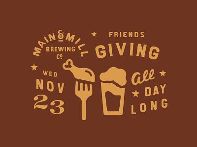 MMBC Friendsgiving beer turkey friendsgiving thanksgiving missouri festus main and mill brewing co. main and mill main and mill brew mmbc