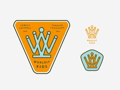 Worldly Kids / WK as crown  (scrapped)
