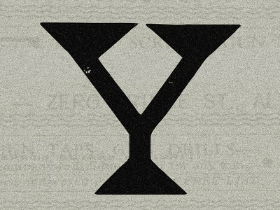 ( - Y - )  TYPEFIGHT! shapes as letters shapes triangles newspaper type letter y typefight