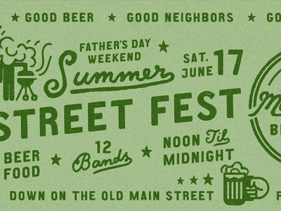 MMBC Summer Street Fest fathers day bbq summer festival main and mill brewing co. main and mill mmbc streetfest