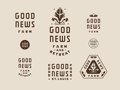 GOOD NEWS - GOOD FOOD brand design icon brand identity design logo brand identity branding
