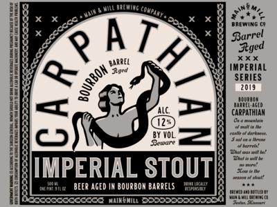Label Art: CARPATHIAN Bourbon Barrel Aged Imperial Stout