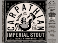 Label Art: CARPATHIAN Bourbon Barrel Aged Imperial Stout