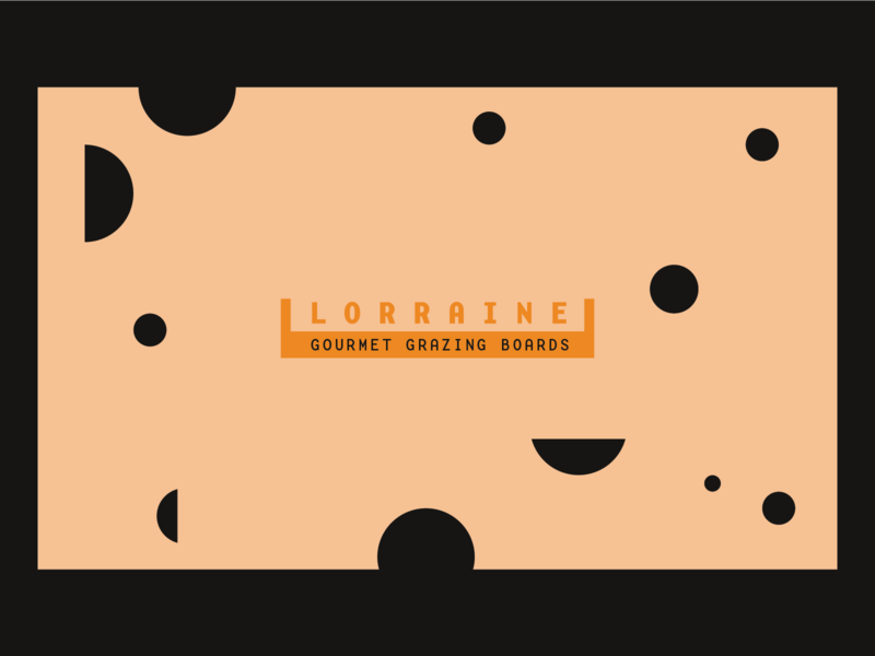 Lorraine — Gourmet Grazing Boards wip business card branding design identity branding lorraine swiss logo cheese
