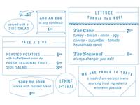 Mud House menu details