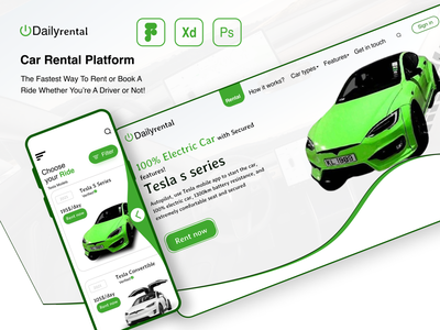Car Rental Application ios design android design mobile design website design uiux design ui design landing page design