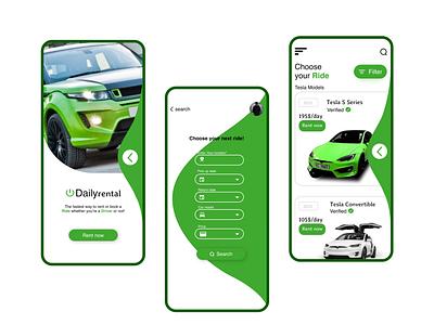 Car Rental Mobile App (UI Design) rental ux design rental ui design car rental app design ios design android design mobile app design graphic design