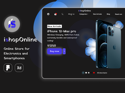 iShopOnline Online Store for Electronics website design online store design ecommerce design