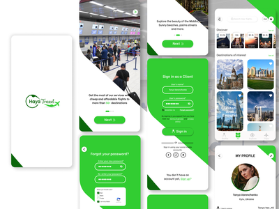 Haya Travel Mobile Application travel and tourism applcation mobile ux design mobile ui design ui design travel application