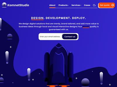 Startup Landing Page start up design it start up landing page design website design landing page uiux design ui design responsive ui design