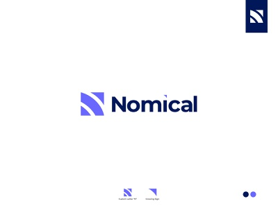 Nomical | Software company minimal app typography logotype logodesign logos logo