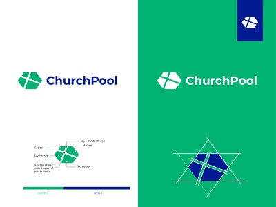 ChurchPool | abstract concept branding design illustration icon app typography minimal logotype logos logodesign logo