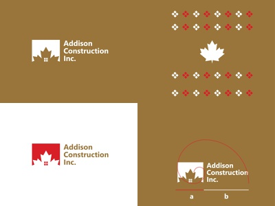 Addision | Construction Inc. design branding app icon typography minimal logotype logos logodesign logo