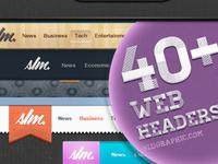 40+ Premium Web Headers (Free Psd)