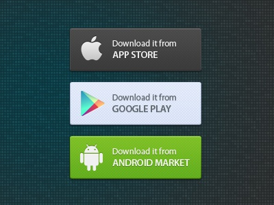 Application Market Buttons iphone ipad android google play app store app free psd blugraphic