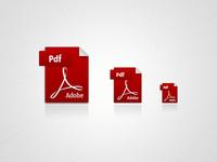 3 size pdf icons