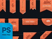 Free Ribbons (Vector / Psd )