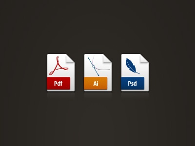 File Icons (psd, png, vector) file icons pdf ai psd jpeg docx xls mp4 avi mpeg html ppt wav txt mov mp3 png zip.