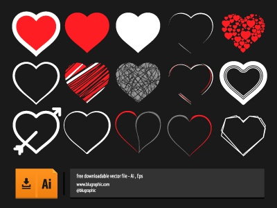 Vector Hearts Collections vector heart download free icon blugraphic psd love