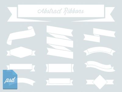 12 Abstract Ribbons ribbon psd free download vector banner