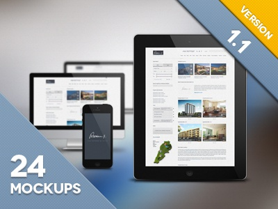 Responsive Mockup Template By Wassim Dribbble Dribbble