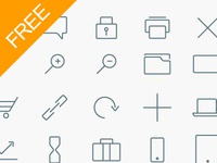 Vector Free Line Icons (Ai)