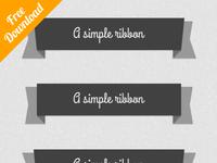 Psd Flat Ribbons (Free)