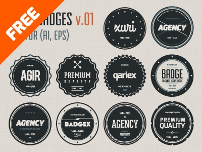 Flat Vector Badges badges free download flat vector psd