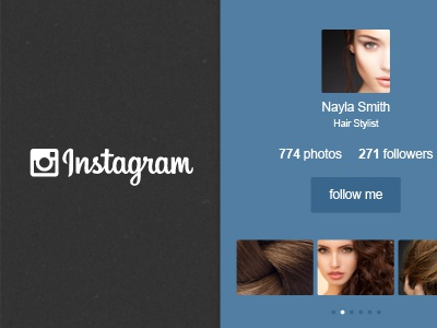 Instagram Widget  (Free Psd) psd download ui instagram widget vector blugraphic