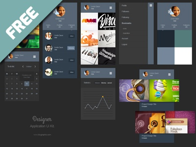 Portfolio App Ui Kit (psd) psd portfolio ui kit app application download designer