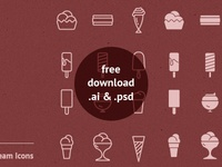 90 Vector Free Ice Cream Icons