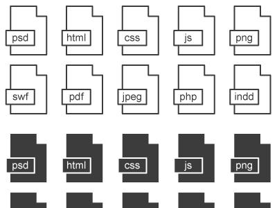 Minimal Black & White File Icons (Ai) download icons free minimal file illustrator vector psd
