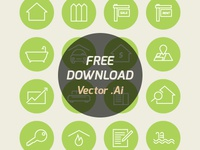 Real Estate Icons (Free)
