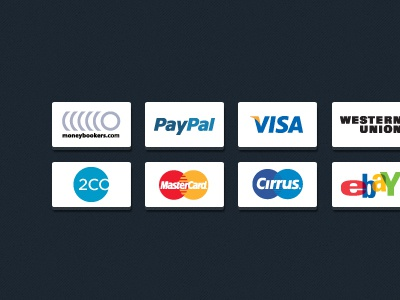 Payment Icons (PSD, VECTOR) payment credit card icons vector psd free download