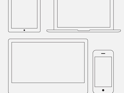 Wire Frame Apple Devices - Vector  apple device free download vector psd