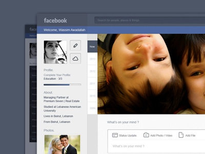 Facebook Resdesign Concept (Psd Free Download) psd download vector freebie blugraphic facebook