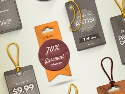 Quality Psd Labels & Tags labels psd download free tags freebie