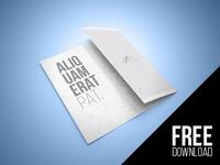 Tri-fold brochure mockup (free psd)