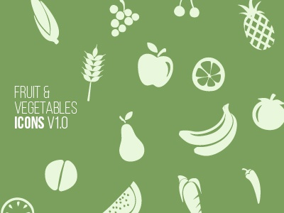 Free Fruits Vegetables Icon Set By Wassim On Dribbble