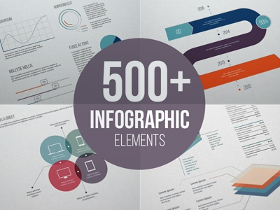 Flat Free Infographic Elements free infographic chart table pie chart line chart area chart bar chart column chart download freebie