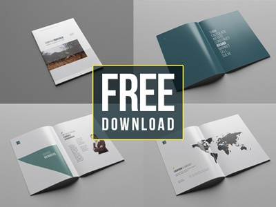 38 pages free company profile template by wassim dribbble 222 flashek Gallery