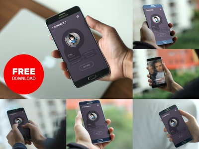Android Device Mockups presentation ux ui app mockup psd download free android